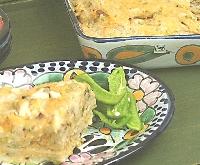 Green Chile and Chicken Enchilada Casserole