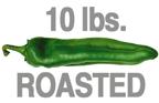 10 LB. ROASTED MEDIUM ORGANIC GREEN CHILE