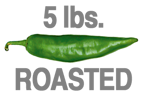 5 LBS. ROASTED HOT ORGANIC GREEN CHILE