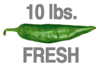 10 LBS. FRESH HOT ORGANIC GREEN CHILE