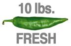 10 LBS. FRESH HOT ORGANIC GREEN CHILE