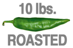 10 LBS. ROASTED HOT ORGANIC GREEN CHILE