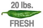 20 LBS. FRESH HOT ORGANIC GREEN CHILE