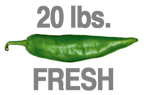 20 LBS. FRESH HOT ORGANIC GREEN CHILE