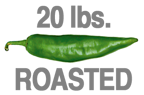 20 LBS. ROASTED HOT ORGANIC GREEN CHILE
