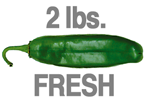 2 LB. MILD HATCH GREEN CHILE