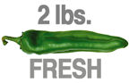 2 LB. MEDIUM FRESH GREEN CHILE