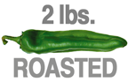 2 LB. MEDIUM ROASTED GREEN CHILE