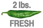 2 LB. HOT FRESH GREEN CHILE