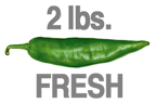 2 LB. HOT FRESH GREEN CHILE