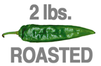 2 LB. EXTRA-HOT ROASTED HATCH GREEN CHILE