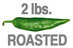 2 LB. HOT ROASTED ORGANIC GREEN CHILE